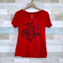Nike The Ohio State University Graphic Tee Red Athletic Cut Buckeye Wome... - $24.74