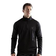 Vaiden Heliosphere Mens 1/4 Zip Work out Warm up Pullover Black Sizes S-3XL - $29.99