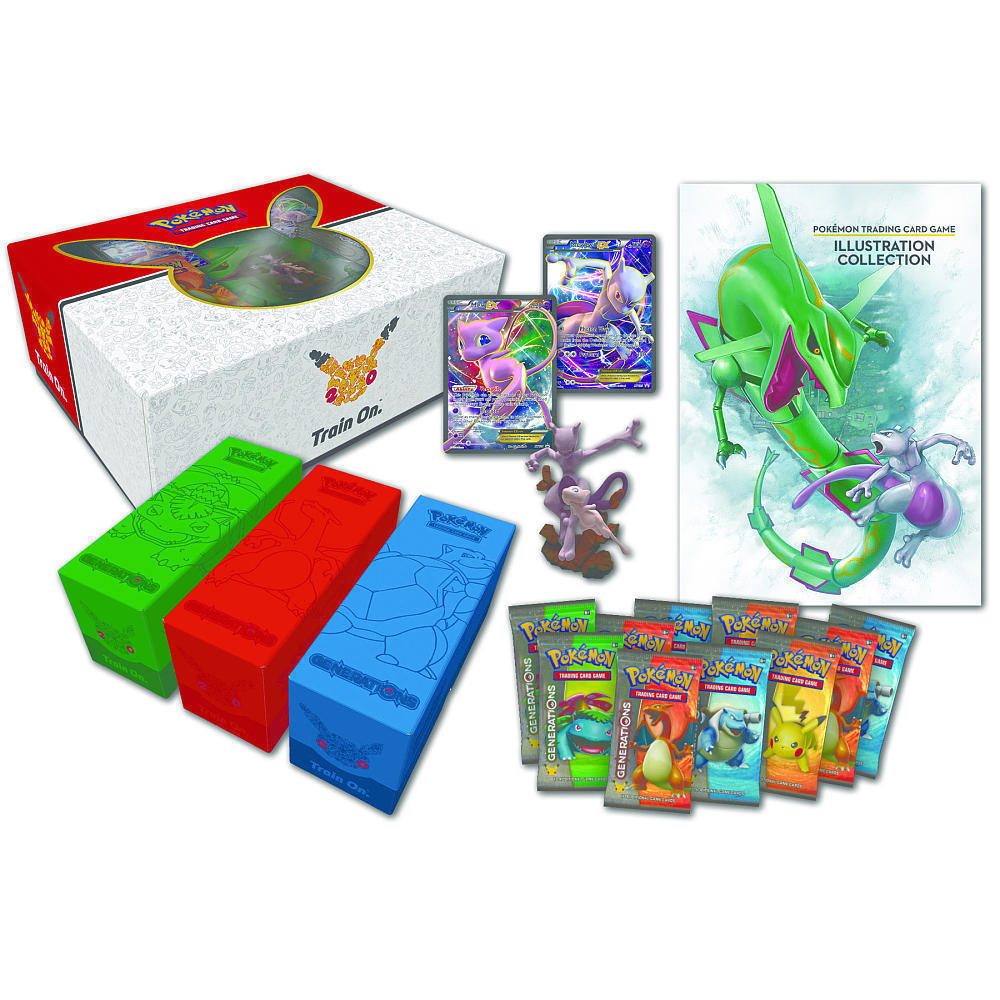 Super Premium Mew and Mewtwo Collection + Pikachu EX Red & Blue Pokemon TCG