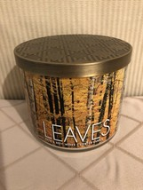 Bath and Body Works Leaves Scented Candle - Large 14.5 OZ - 3 Wick - Lim... - $16.87
