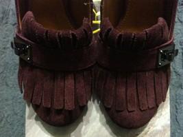 Franco Sarto Damen Neu Burgunder Leder/Wildleder Oberseite Anzug Schuhe Größe:6 image 2