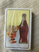 coca cola playing cards new Waiter with coke cap  on head with bottle  - $14.84