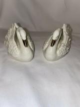 2 Lenox Gold Classic Swan 1999 Hand Made - $29.69