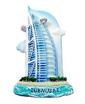 Burj Al Arab Dubai Hotel Souvenir Fridge Magnet Toy Set 3D Resin Collection - $7.58