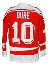 Any Name Number CCCP Russia Retro Hockey Jersey Red Bure Any Size image 2