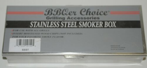 BBQer Choice SSST Stainless Steel Smoker Box Color Silver