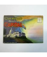 Vintage 1940's Fold-out Postcard Folder- WASHINGTON D. C. Our Nations Ca... - $9.50
