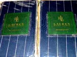 2pc Ralph Lauren Worth Avenue Blazer Stripe Euro Pillow Shams - $27.76