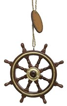 Nautical Christmas Decoration - Authentic Looking Ship Wheel Ornament - $17.82