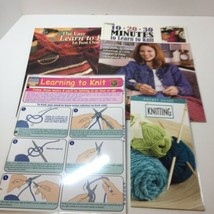 4 Learn to Knit Pattern Books & Guides Leisure Arts  - $14.50