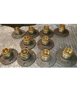 Malleable Iron Flange with 15 mm brass  Fittings X 10 - $38.21