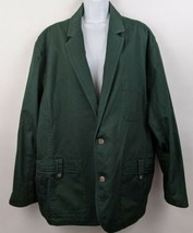 Duluth Trading Company 2 Button Up Mens Field Jacket Green 3XL  - $69.29