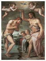 Decor Poster.Fine Graphic ReligiousArt.Baptism Scene.Home Wall Design 1354 - $11.30+