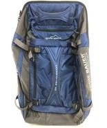 Eddie Bauer Expedition 26 Blue Drop Bottom Rolling Duffel Bag Luggage - $98.99