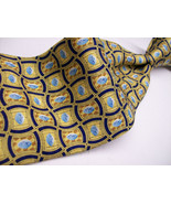 PFIZER VIAGRA- Little BLUE Pills  Gold Background S Mens SILK  Necktie s... - $9.99