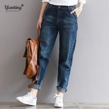 Boyfriend Jeans Harem Pants Women Trousers Casual Plus Size Loose Fit Vint - $33.58+