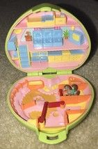 Polly Pocket Pony Club 1989 Bluebird Vintage Green Heart Compact w/Horse - $24.74