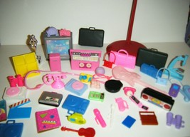 Lot Barbie Doll House Fisher Price Vintage Mixed Music Electronics Acces... - $13.86