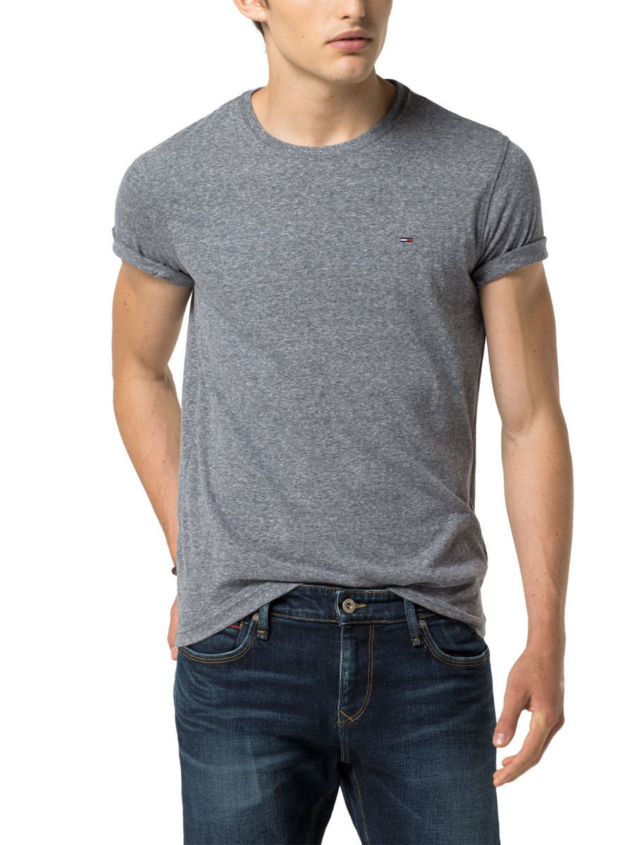 Tommy Hilfiger Denim Men's Shirt Original Basic Knit Crew Neck Tee Charcoal