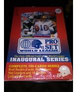 1990 pro set world league wax box 4 sets unopened - $17.95