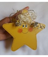 """5.5"""" Wood Wooden Star Gift Christmas in July Ornament Home Decor Lodge Sign - $12.70"""