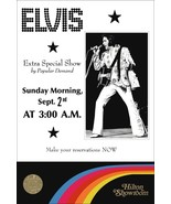 Elvis Presley Hilton Group 3AM Show Promo Poster Stand-Up Display - Rock... - $15.99