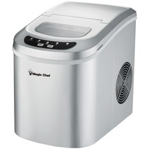Magic Chef MCIM22SV 27-Pound Capacity Portable Ice Maker (Silver with Silver Top - $160.96