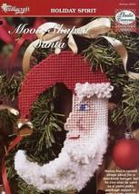 Moon-Shaped Santa Claus TNS Plastic Canvas Pattern Leaflet - $1.77