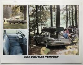 1963 Pontiac Tempest Car Print Ad - $9.91