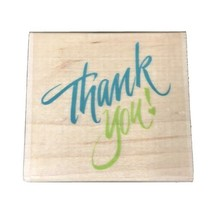 """""""Thank You"""" Calligraphy All Night Media Wood/Rubber Stamp Scrapbook Paper Crafts - $8.56"""