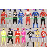Unisex 14 Style Lycra Spandex Superhero Power Ranger Suit Catsuit Costum... - $45.99+