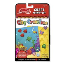 Melissa & Doug Creative Playset for Kids - On-the-Go Crafts - Clay Creat... - $14.64