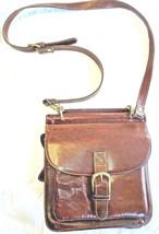 Vintage Burgundy GH Bass & Co leather Buckle Down Crossbody Shoulder tra... - $16.79