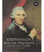 Eleven Late String Quartets, Opp. 74, 76 and 77, Complete (Dover Chamber... - $9.89