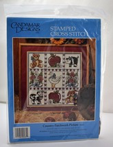 Country Patchwork Picture Stamped Cross Stitch Kit - Candamar Designs 14... - $14.20