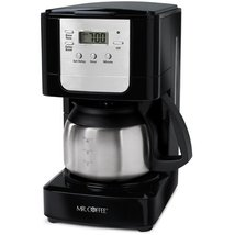 Mr. Coffee JWX9-RB 5-Cup Programmable Coffeemaker, Black with Stainless ... - $35.76