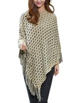 Casual Fringe Knit Hollow Out Solid Color Pullover Women Shawl Coat - $27.99