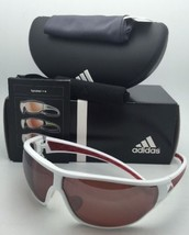 Polarized ADIDAS Sunglasses TYCANE PRO L A189 00 6052 White & Red Frames w/ LST