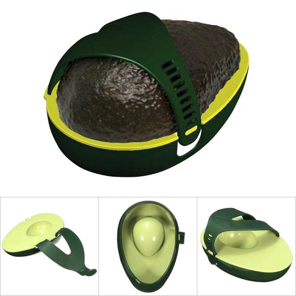 Fresh Food Keeper Storage Tray Holder Avocado Leftover Half Stay Kitchen Gadget