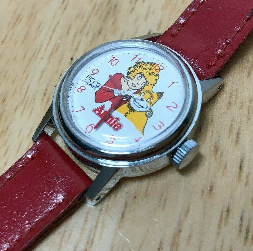 Primary image for Unused Vintage Picco Annie Lady Silver Red Hand-Winding Mechanical Watch Hours