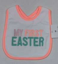 Carter's Easter Bib My First Easter with Bright Neon Colors One Size - $8.00