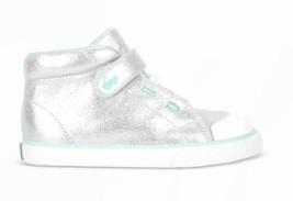 See Kai Run Basics Niña Plata Real High Top Zapatillas Zapatos Belmont II image 3