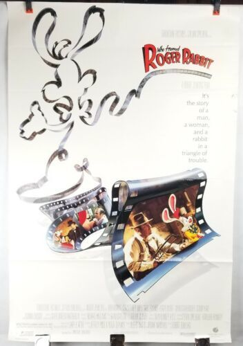 Who Framed Rodger Rabbit Movie Poster Single Sided Original 27x40 Shipped Rolled