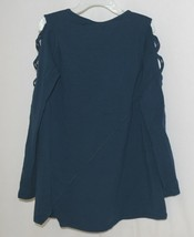Simply Noelle Curtsy Couture Girls Cutout Long Sleeve Shirt Misty Blue Medium image 2