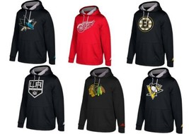 S-4XL Men's NHL adidas Checking Hoodie ClimaWarm Pullover Hooded Sweatshirt NEW