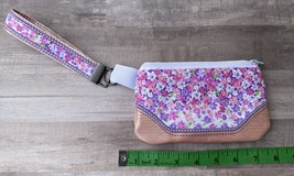 Peach Perfect Blooms 5 x 7 Zipper bag with shoulder or wrist strap - $17.00