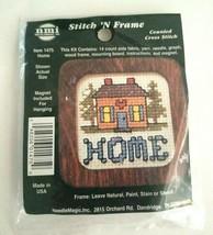 NMI Needle Magic Stitch 'N Frame Counted Cross Stitch Kit #1475 Home Hou... - $7.80