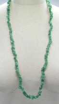 Green Spinel Polished Gemstone Bead Beaded Long Necklace Vintage - $29.69