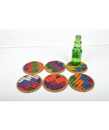 kilim coaster,drink coasters,coffee Coaster, mug rug Coasters 4,5 inch ... - $29.00