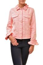 J Brand Womens Classic SR4005T142 Ruffle Jacket Pink Size XS - $120.24